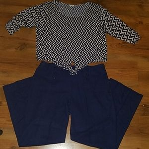 Cato Blouse & Sailor Pants